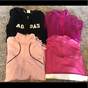 Tops - Lot of 4 athletic tops zip small and medium